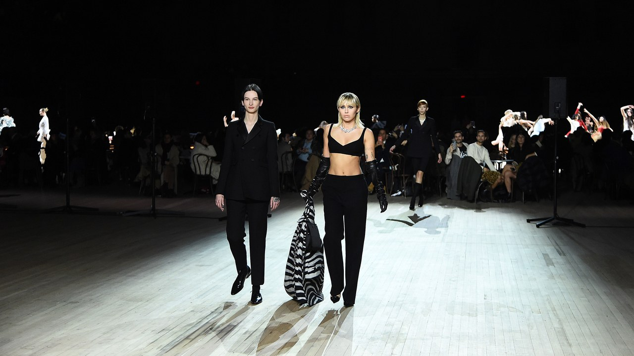 Mylie Cyrus Walks the New York Fashion Show with Glamour