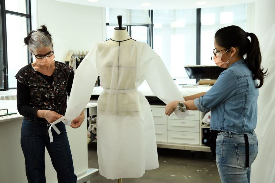 Louis Vuitton Is Using Their Workshops For Making Masks And Hospital Gowns
